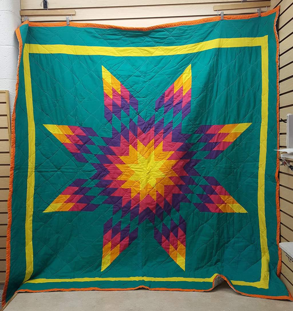 BEAUTIFUL GREAT CONDITION HOMEMADE NATIVE AMERICAN INDIAN STAR ... : star quilts native american - Adamdwight.com