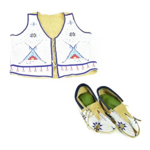 Morning Star Pattern Sioux Vest and Matching Moccasins – eBay find of the week