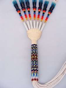 Beaded Peyote Fan