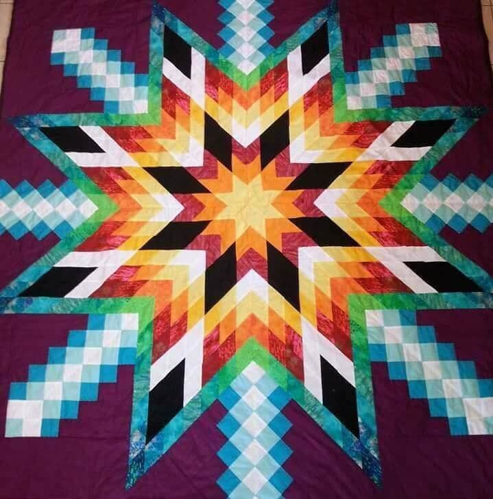 Indian Star Quilt Block Kit | Maine Quilt Company |Indian Star Quilts